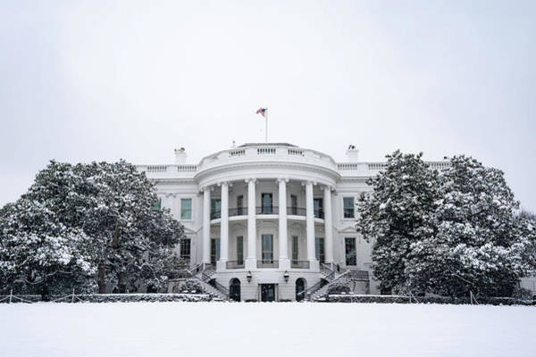 Wall Art - Painting - The White House Grounds Covered In Snow 10 by Celestial Images