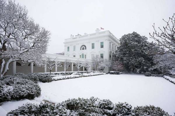 Wall Art - Painting - The White House Grounds Covered In Snow7 by Celestial Images