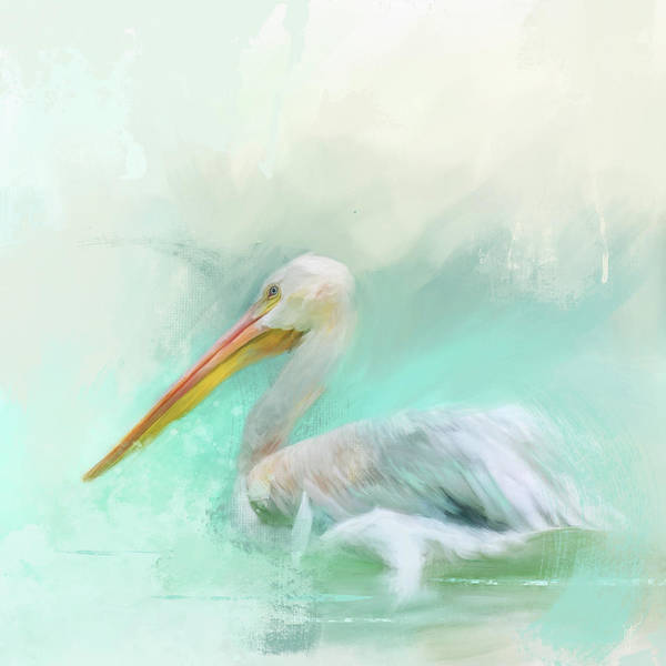 Painting - The White Pelican by Jai Johnson