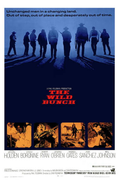 Mixed Media - The Wild Bunch 1969 by Kultur Arts Studios