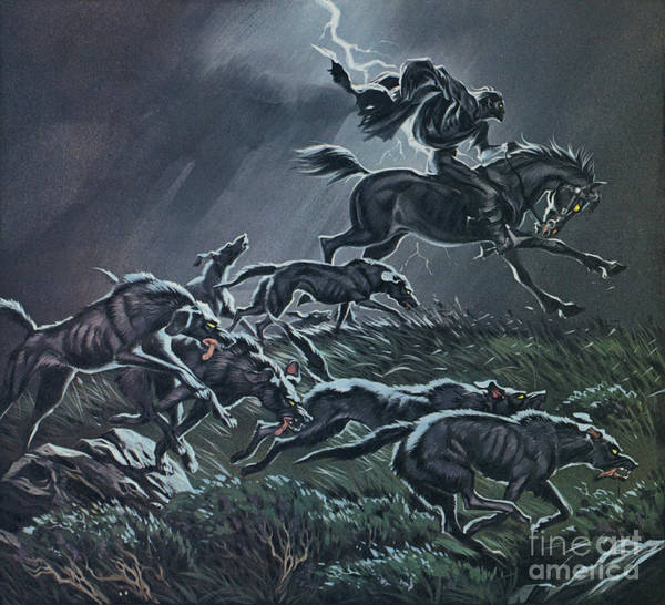 Wall Art - Painting - The Wild Hunt  by Angus McBride