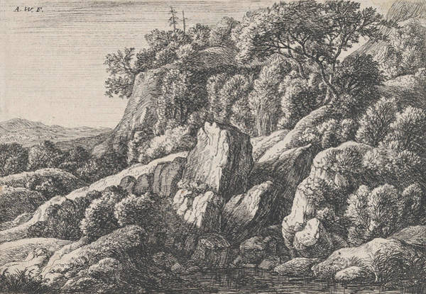 Wall Art - Relief - The Wilderness Covered With Rocks by Antonie Waterloo