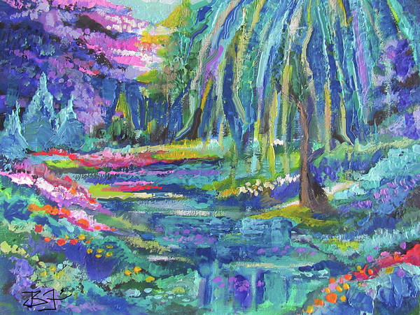 Painting - The Willow Tree by Jean Batzell Fitzgerald