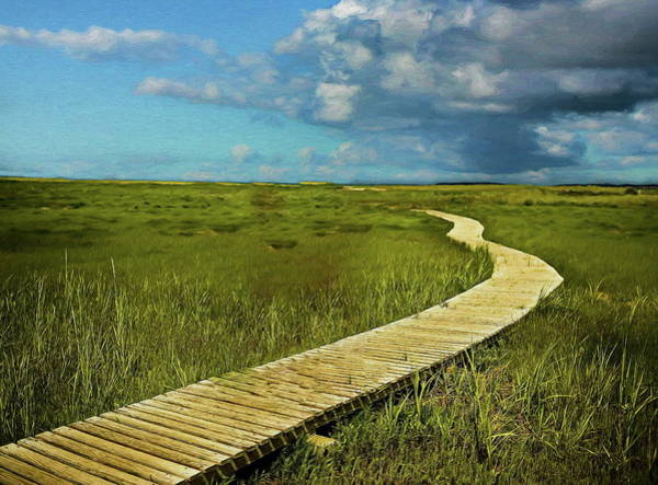 Painting - The Winding Boardwalk by Russ Harris