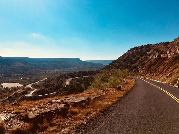 Amarillo Digital Art - The Winding Road, Palo Duro Canyon by Matt Richardson