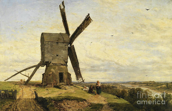 Wall Art - Painting - The Windmill by Thomas Creswick