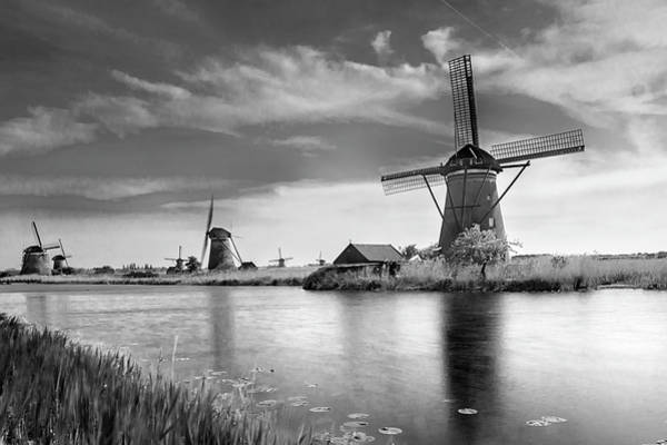 Photograph - The Windmills Of Kinderdijk 2 by Wolfgang Stocker