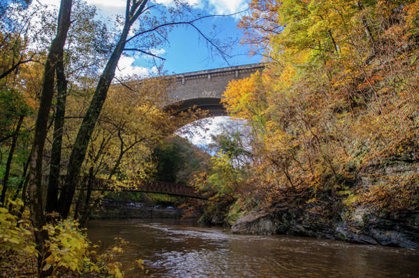 Wall Art - Photograph - The Wissahickon Creek Under The Henry Avenue Bridge In Autumn by Bill Cannon