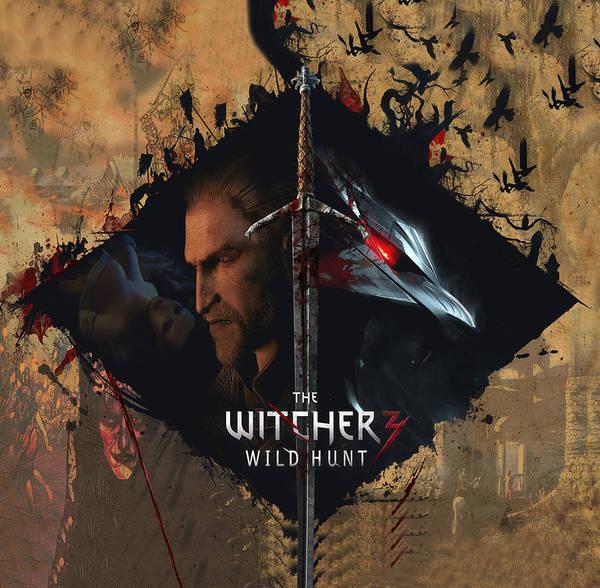 Wall Art - Digital Art - The Witcher by Geek N Rock