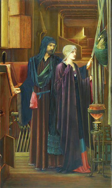 Wall Art - Painting - The Wizard - Digital Remastered Edition by Edward Burne-Jones