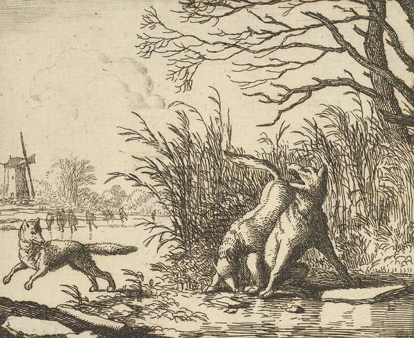 Relief - The Wolf Accuses Renard Once Again From Hendrick Van Alcmar's Renard The Fox by Allaert van Everdingen