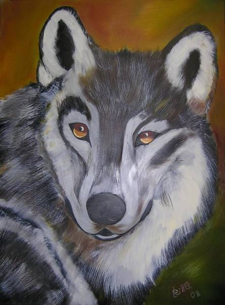 Painting - The Wolf by Jim Lesher