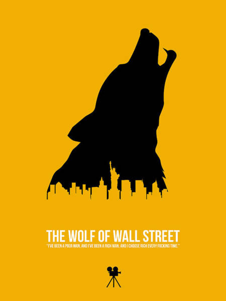 Wall Art - Digital Art - The Wolf Of Wall Street by Naxart Studio
