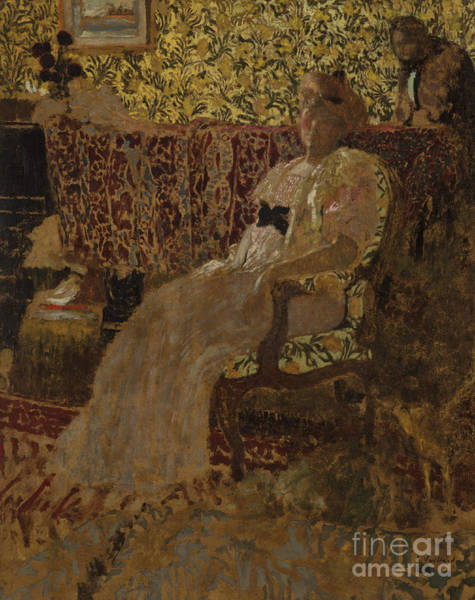 Wall Art - Painting - The Woman In The Chair by Edouard Vuillard