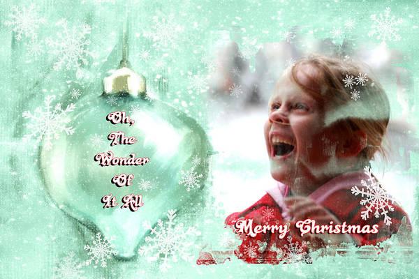 Associated Digital Art - The Wonder Of It All  Christmas Card by Linda Cox