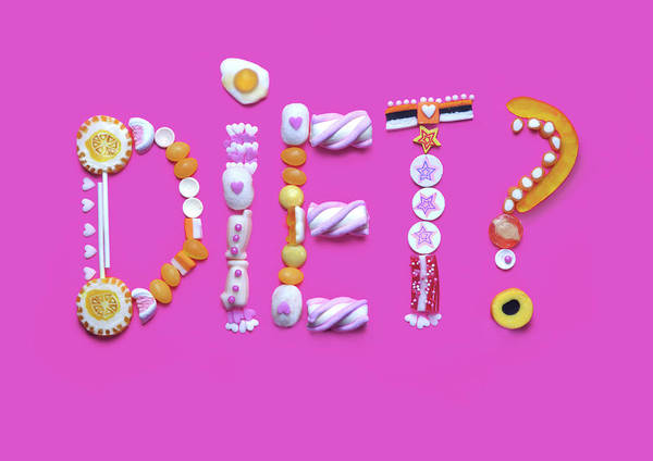 Wall Art - Photograph - The Word Diet Written From Gummy Candy by Paper Boat Creative