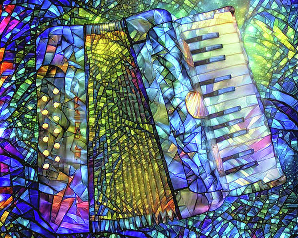 Digital Art - The World According To Accordion by Peggy Collins