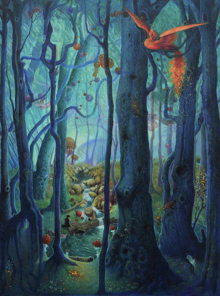 Painting - The World Between The Trees by Lynn Bywaters