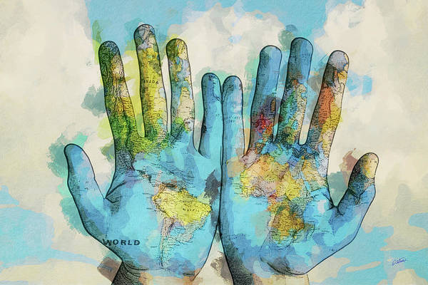 Painting - The World Is In My Hands - Dwp6004973 by Dean Wittle