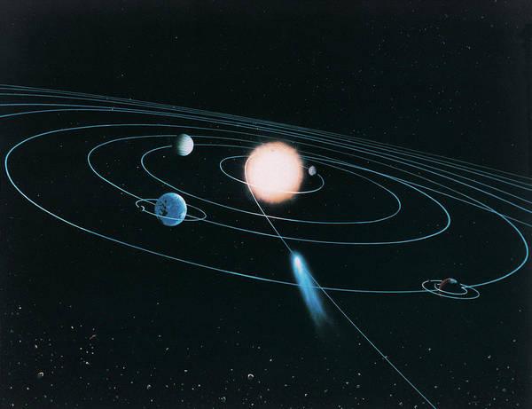 Digital Image Digital Art - The World Of The Inner Solar System by Digital Vision.