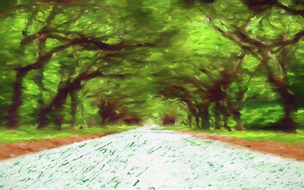 Wall Art - Painting - The Wormsloe Oak Road by Dan Sproul