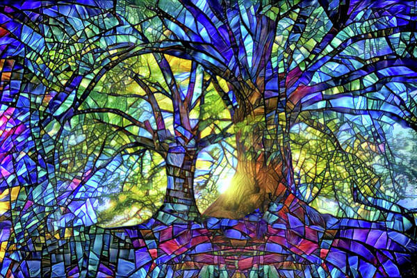 Wall Art - Digital Art - The Worship Of Trees by Peggy Collins