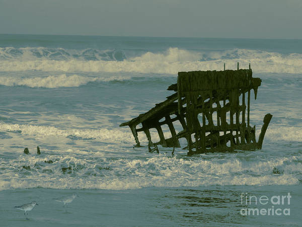 Wall Art - Photograph - The Wreck Of The Peter Iredale Painterly Touch by Beverly Guilliams