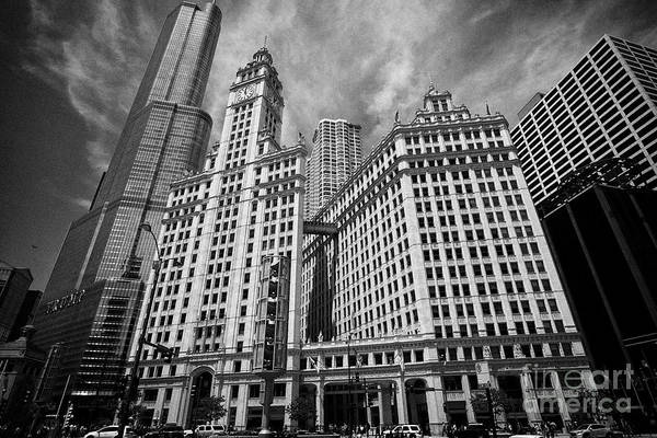 Wall Art - Photograph - The Wrigley Building And North Addition On Michigan Avenue Chicago Il Usa by Joe Fox