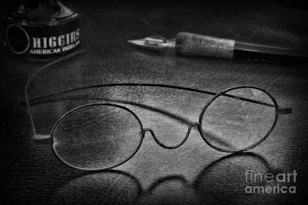 Wall Art - Photograph - The Writer And The Optometrist In Black And White by Paul Ward