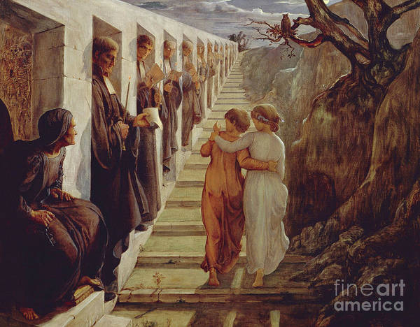 Wall Art - Painting - The Wrong Path by Louis Janmot