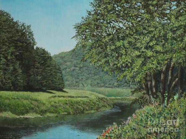 Painting - The Wye River Of Wales by Bob Williams