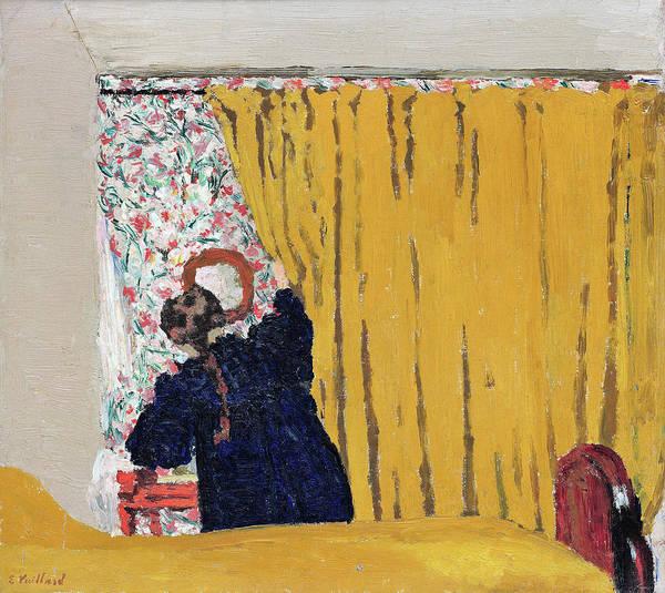 Wall Art - Painting - The Yellow Curtain - Digital Remastered Edition by Edouard Vuillard