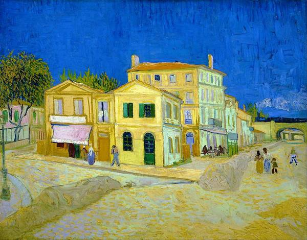 Wall Art - Painting - The Yellow House - Digital Remastered Edition by Vincent van Gogh