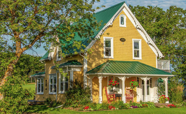Queen Anne Style Photograph - The Yellow House by Marcy Wielfaert