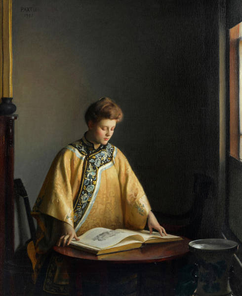 Wall Art - Painting - The Yellow Jacket by William McGregor Paxton