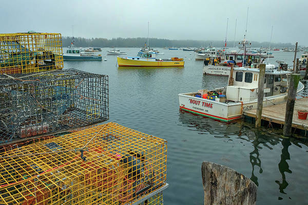Photograph - The Yellow Lobster Boat by Rick Berk