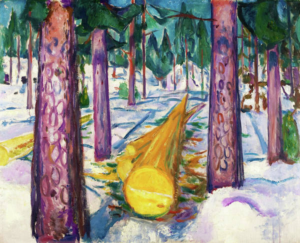 Wall Art - Painting - The Yellow Log - Digital Remastered Edition by Edvard Munch