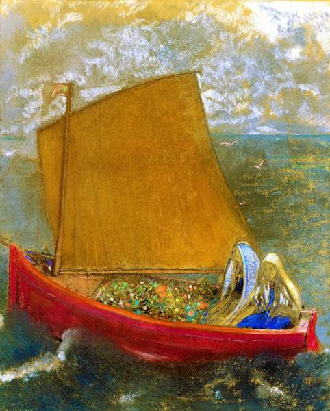 Wall Art - Painting - The Yellow Sail - Digital Remastered Edition by Odilon Redon