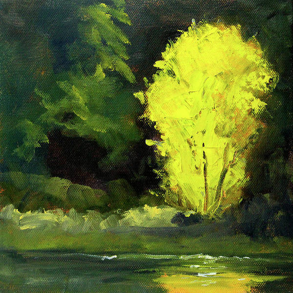 Wall Art - Painting - The Yellow Tree by Nancy Merkle
