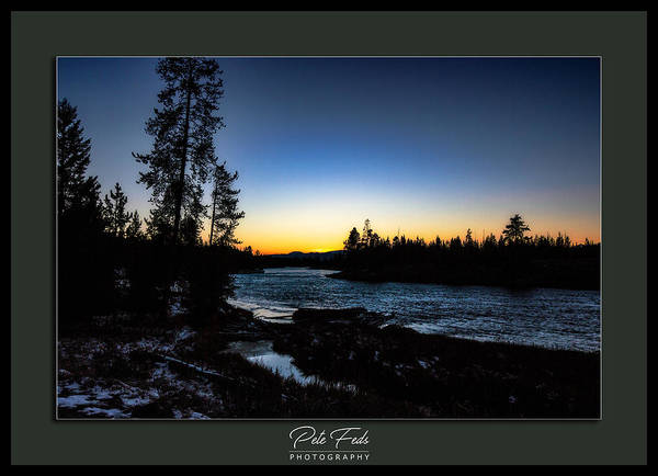 Photograph - The Yellowstone River by Pete Federico