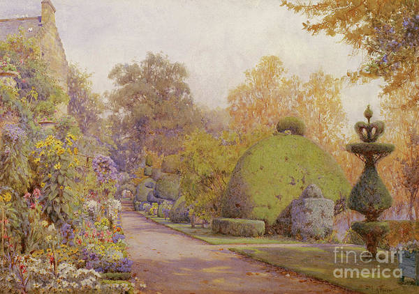 Wall Art - Painting - The Yew Walk, Barncluith, Strathclyde by Ernest Arthur Rowe