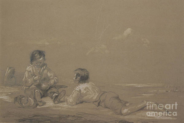 Wall Art - Drawing - The Young Boat Builders by John Constable