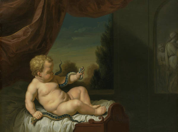 Wall Art - Painting - The Young Hercules With The Snakes by Pieter van der Werff