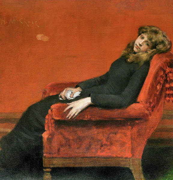 Wall Art - Painting - The Young Orphan - Digital Remastered Edition by William Merritt Chase