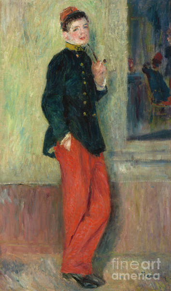 Wall Art - Painting - The Young Soldier by Pierre Auguste Renoir