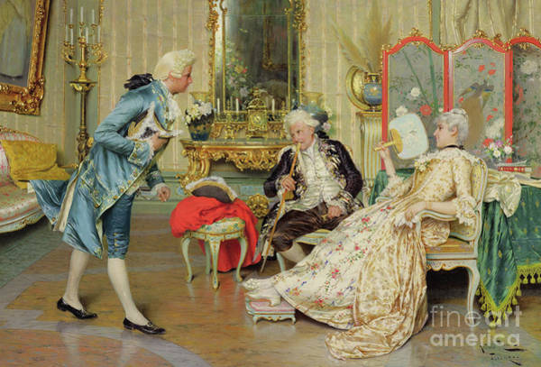 Wall Art - Painting - The Younger Suitor by Arturo Ricci