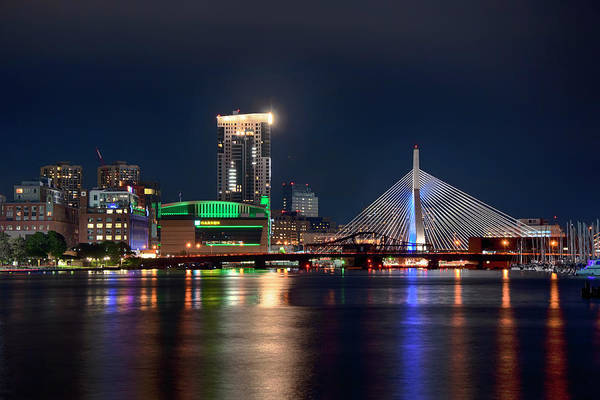 Photograph - The Zakim Bridge And Td Garden by Joann Vitali