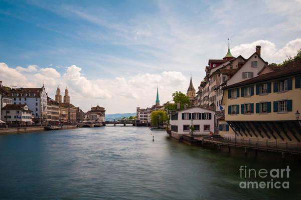 Church Wall Art - Photograph - The Zurich Cityscape. Switzerland by Roman Vukolov