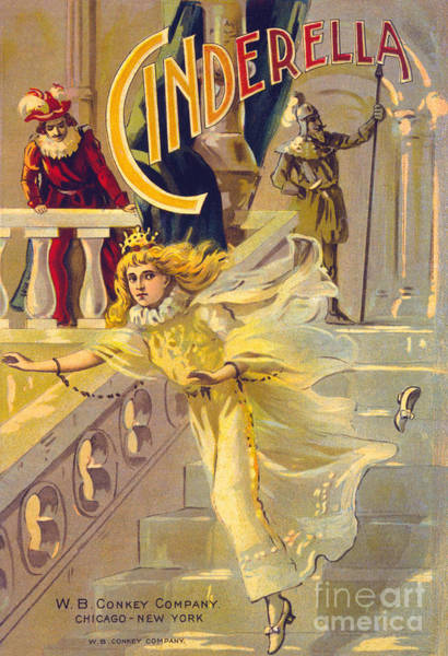 Wall Art - Painting - Theater Poster For Cinderella by American School