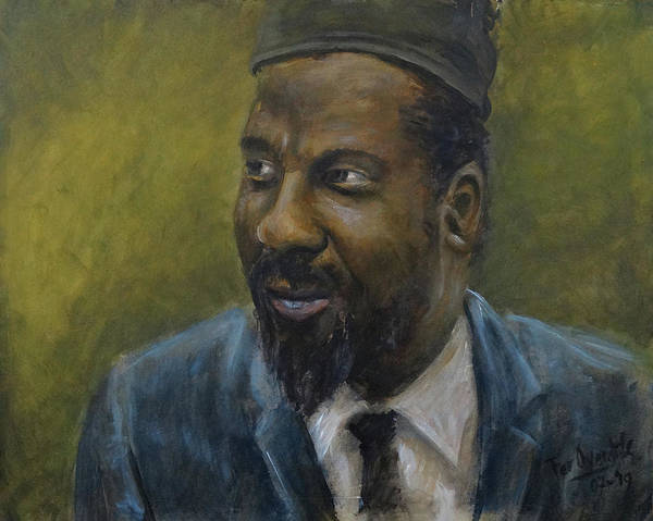 Wall Art - Painting - Thelonious Monk by Fer Overdijk